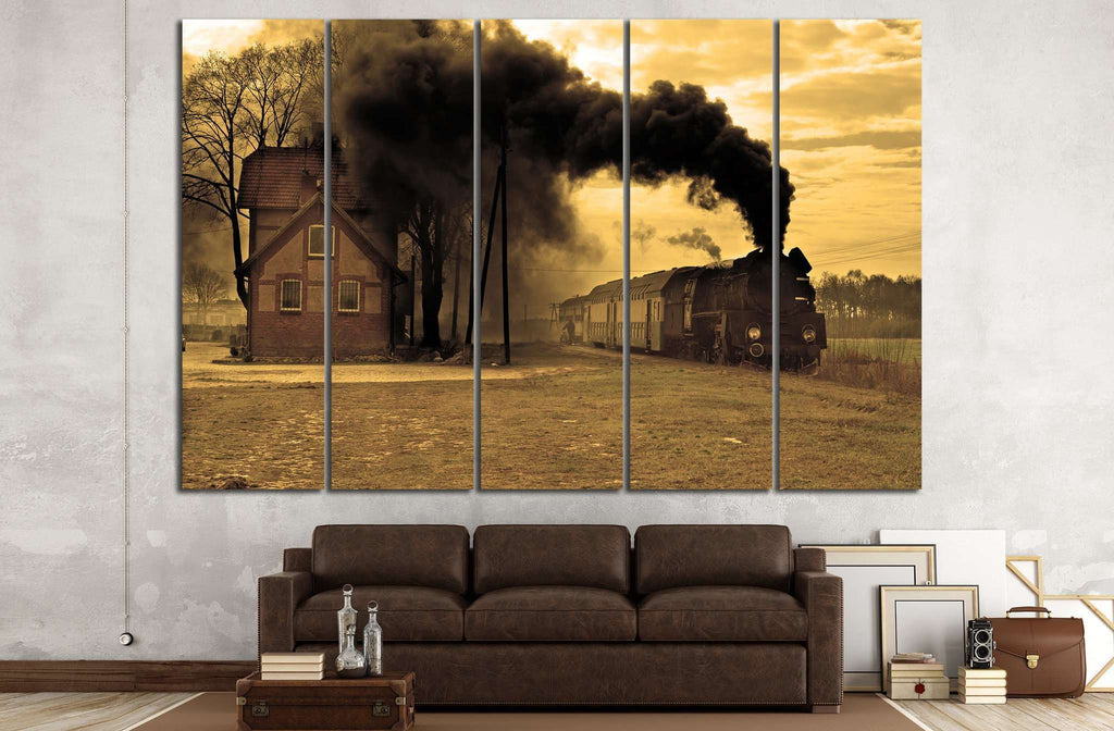 Locomotive and Smoke №236 Canvas Print