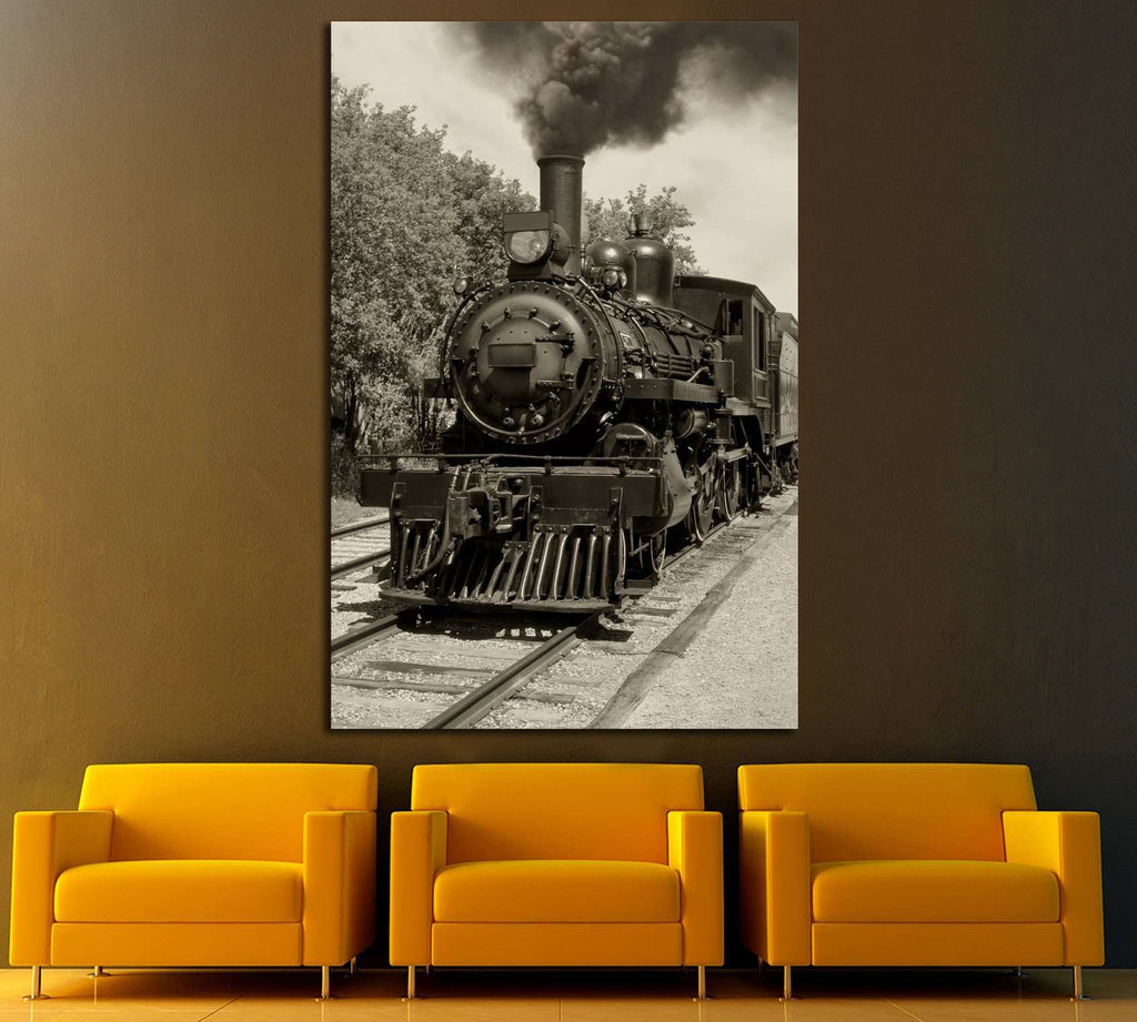 Locomotive Wall Art №235 Ready to Hang Canvas Print