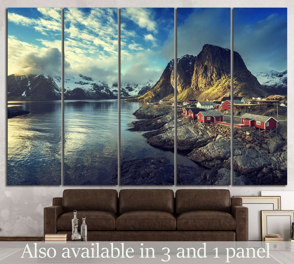 Lofoten islands, Norway №612 Ready to Hang Canvas Print