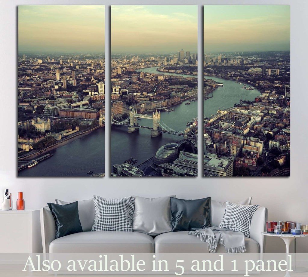 London rooftop view №570 Ready to Hang Canvas Print