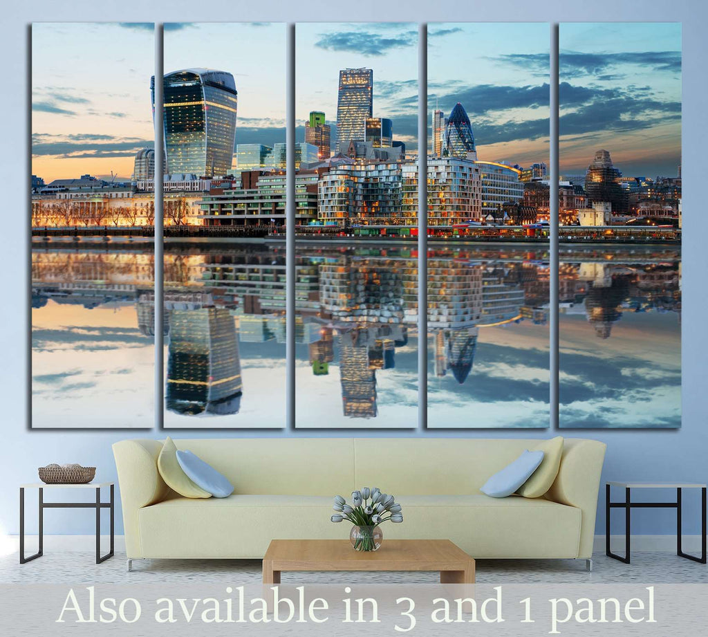 London Skylines №571 Ready to Hang Canvas Print