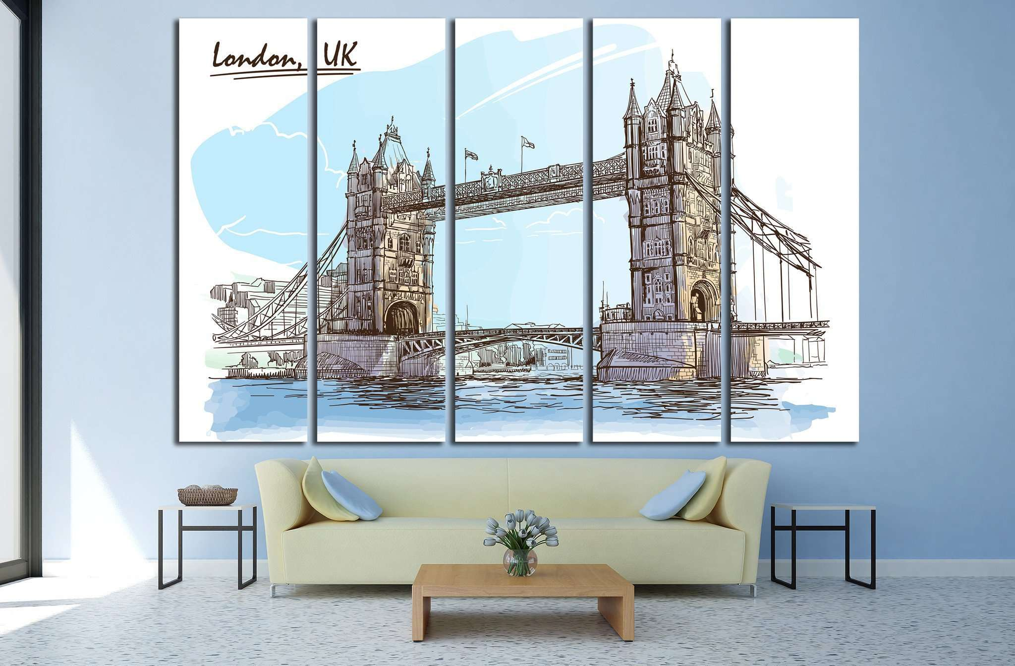 London, UK №577 Ready to Hang Canvas Print