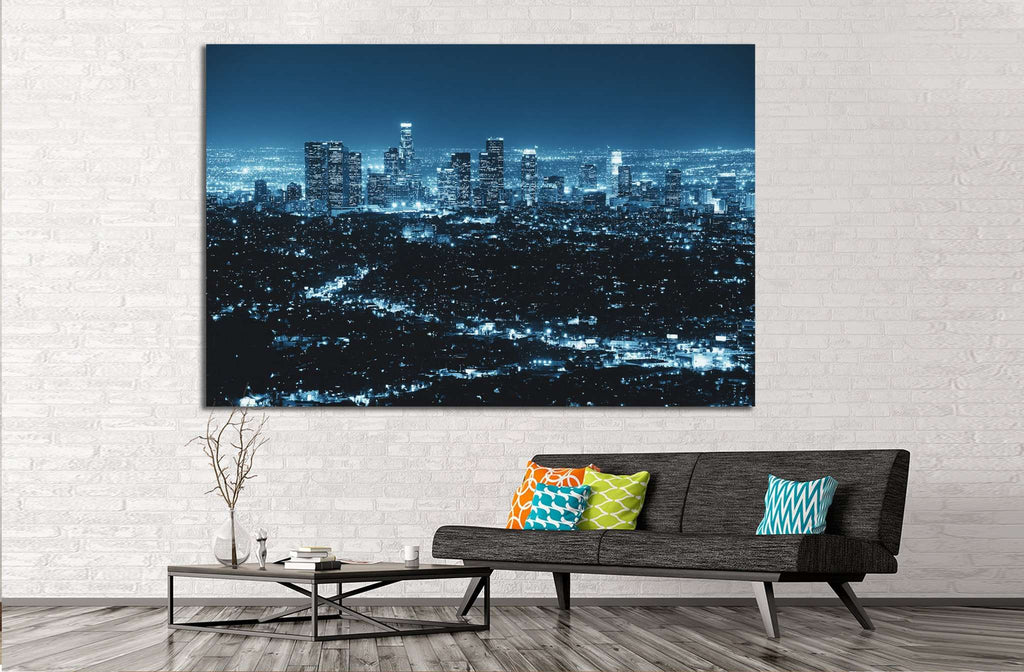 Los Angeles at night №1120 Ready to Hang Canvas Print
