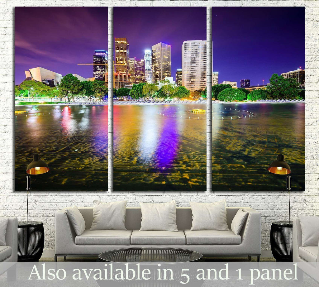 Los Angeles, California, USA downtown city skyline №1695 Ready to Hang Canvas Print