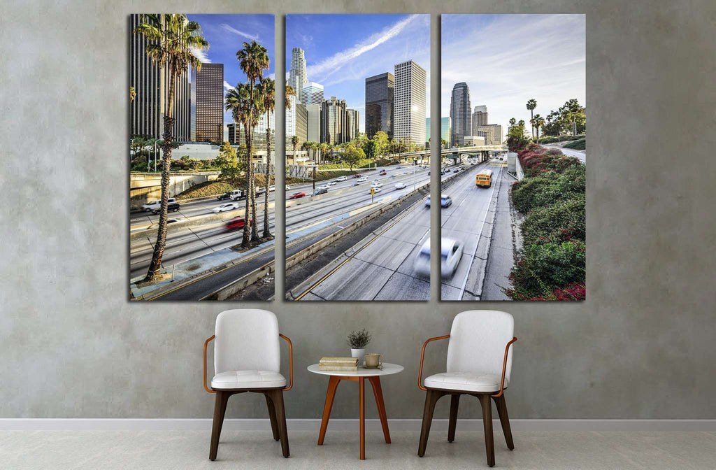 Los Angeles, California, USA downtown cityscape №1635 Ready to Hang Canvas Print