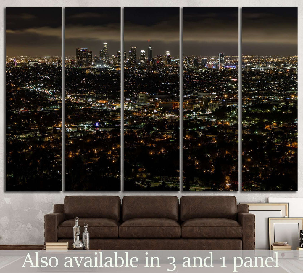 Los Angeles skyline №820 Ready to Hang Canvas Print