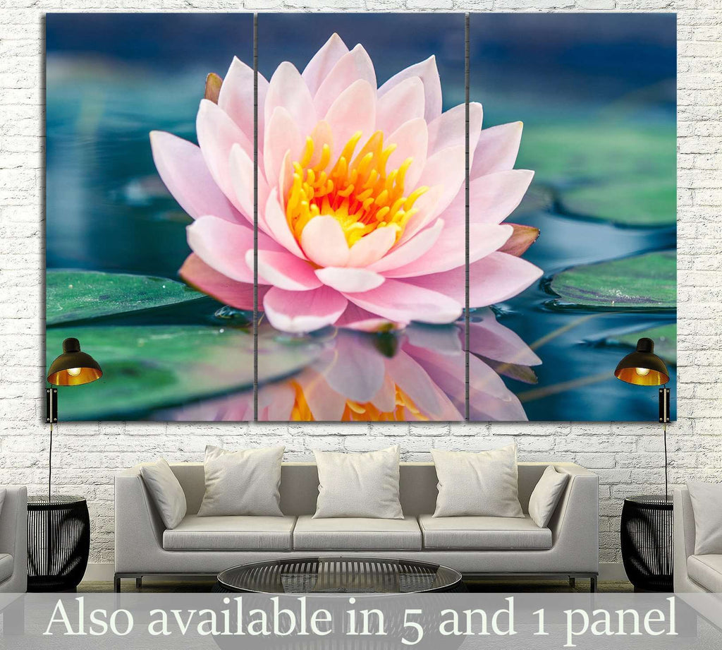 Lotus Flower In Pond 15 Ready To Hang Canvas Print Zellart