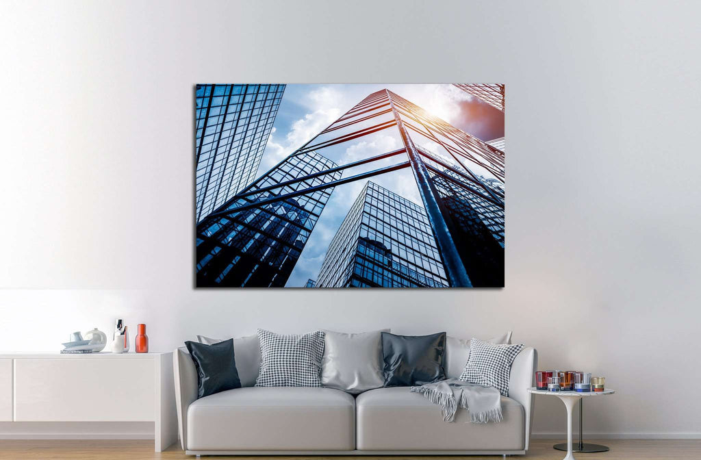 low angle view of skyscraper №1079 Ready to Hang Canvas Print