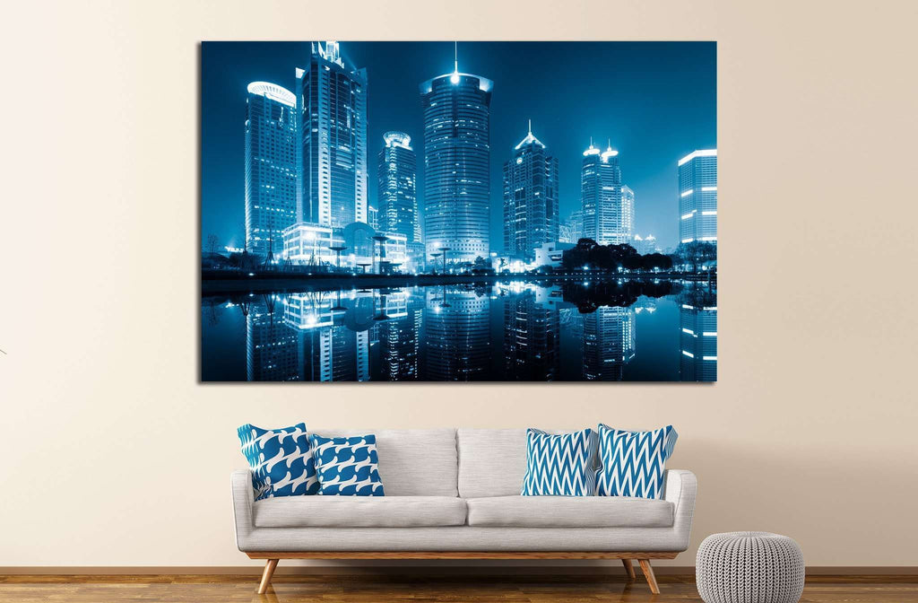 lujiazui financial centre, shanghai, china №1152 Ready to Hang Canvas Print