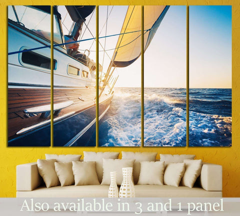 Luxury Yacht №211 Ready to Hang Canvas Print