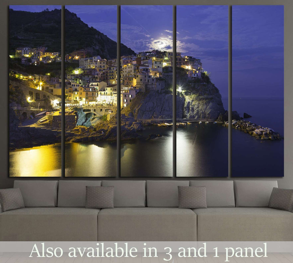 Manarola, Cinque Terre, Italy №1240 Ready to Hang Canvas Print
