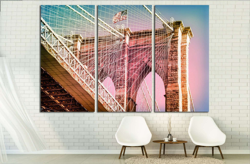 Manhattan Bridge in New York City №1572 Ready to Hang Canvas Print