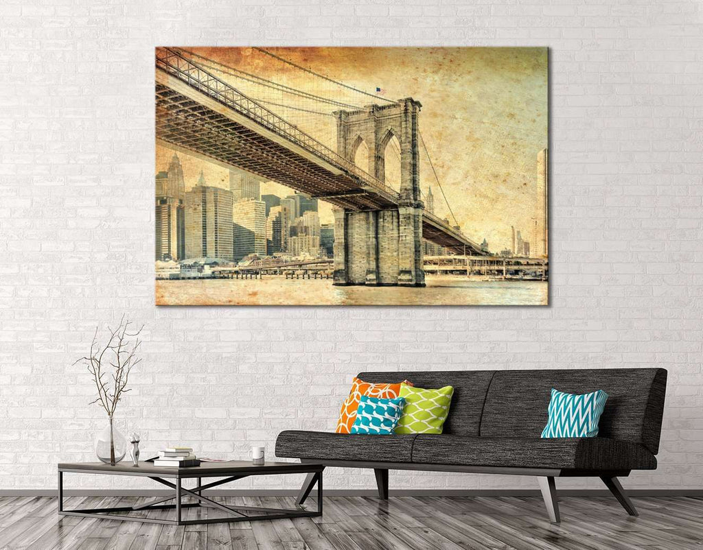 Manhattan Bridge №119 Ready to Hang Canvas Print