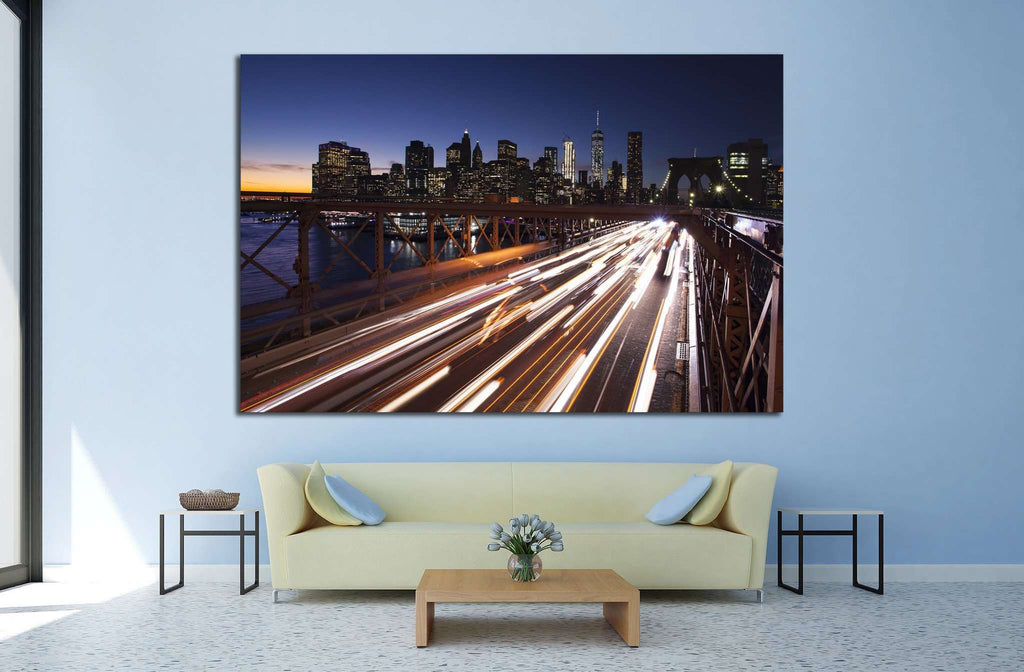 Manhattan, Brooklyn Bridge №823 Ready to Hang Canvas Print