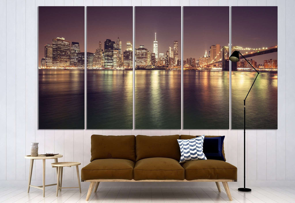 Manhattan Cityscape №3022 Ready to Hang Canvas Print