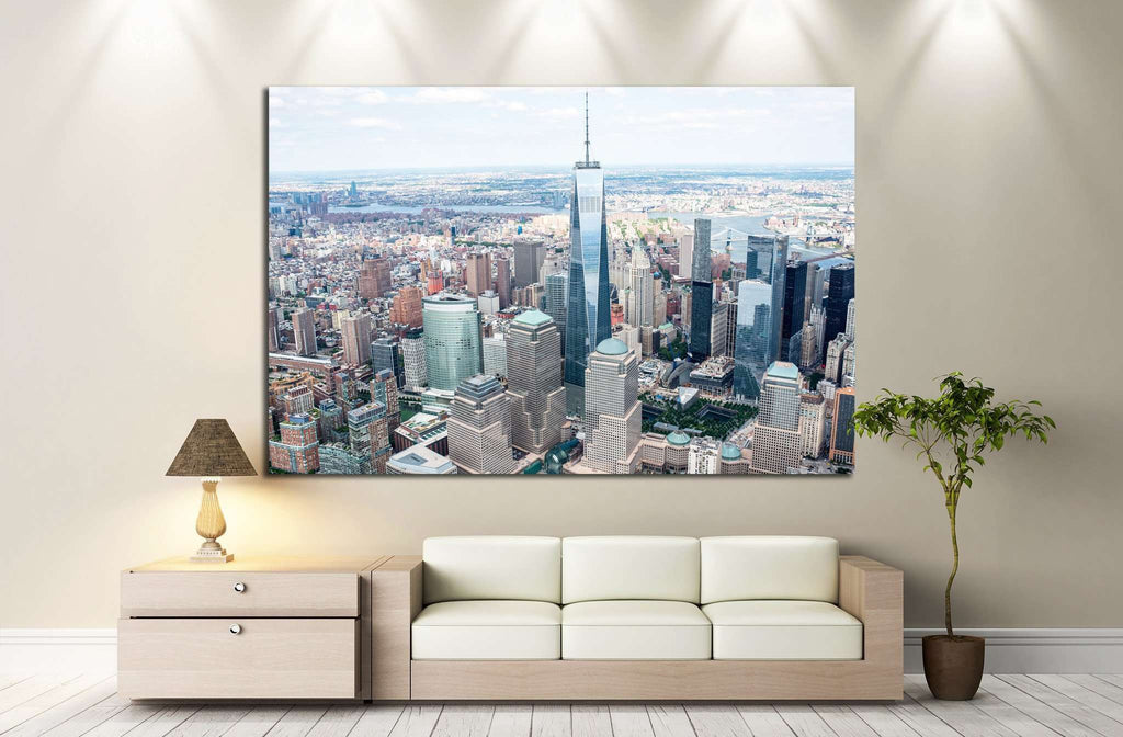 Manhattan from the air №1265 Ready to Hang Canvas Print