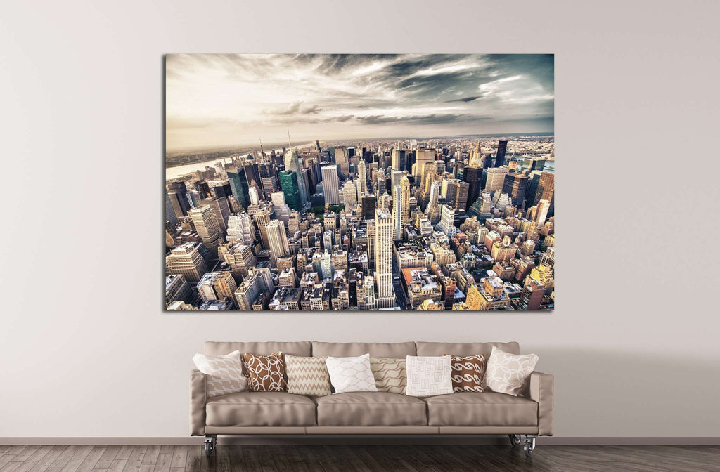 Manhattan skyline №786 Ready to Hang Canvas Print