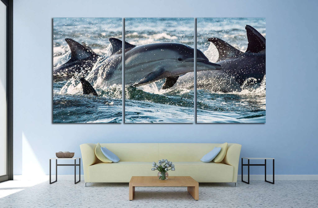 Many Dolphins №514 Ready to Hang Canvas Print