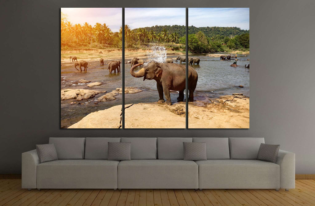 Many Elephants №193 Ready to Hang Canvas Print