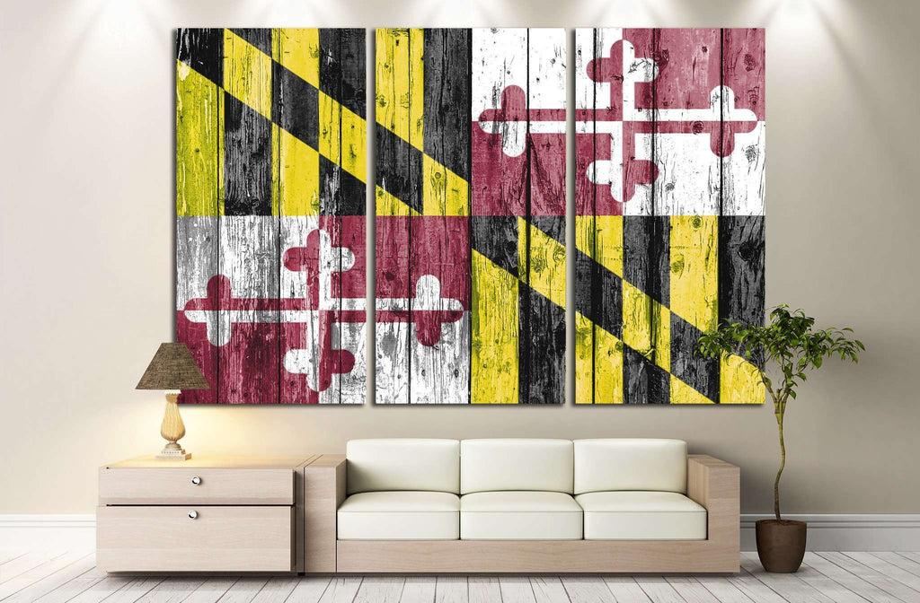 Maryland №654 Ready to Hang Canvas Print