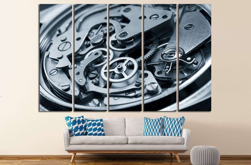 Mechanism of Clock №219 Ready to Hang Canvas Print