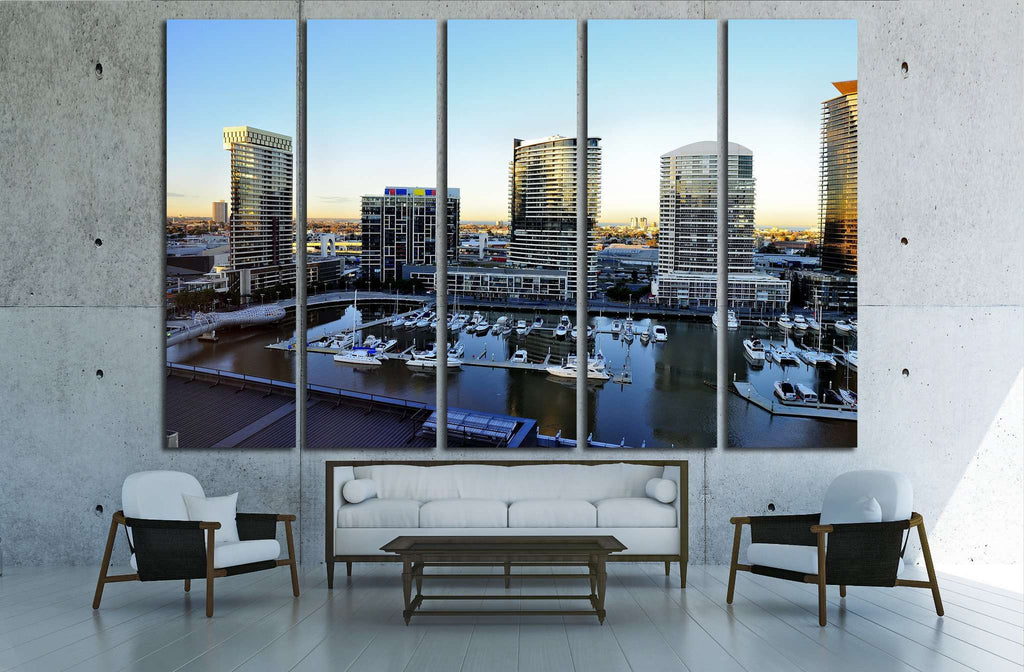 MELBOURNE, AUSTRALIA , Docklands is one of the largest urban renewal projects in Victoria №2053 Ready to Hang Canvas Print