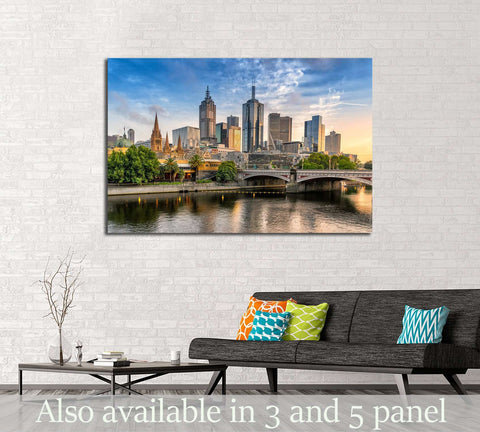 Melbourne CBD №2308 Ready to Hang Canvas Print