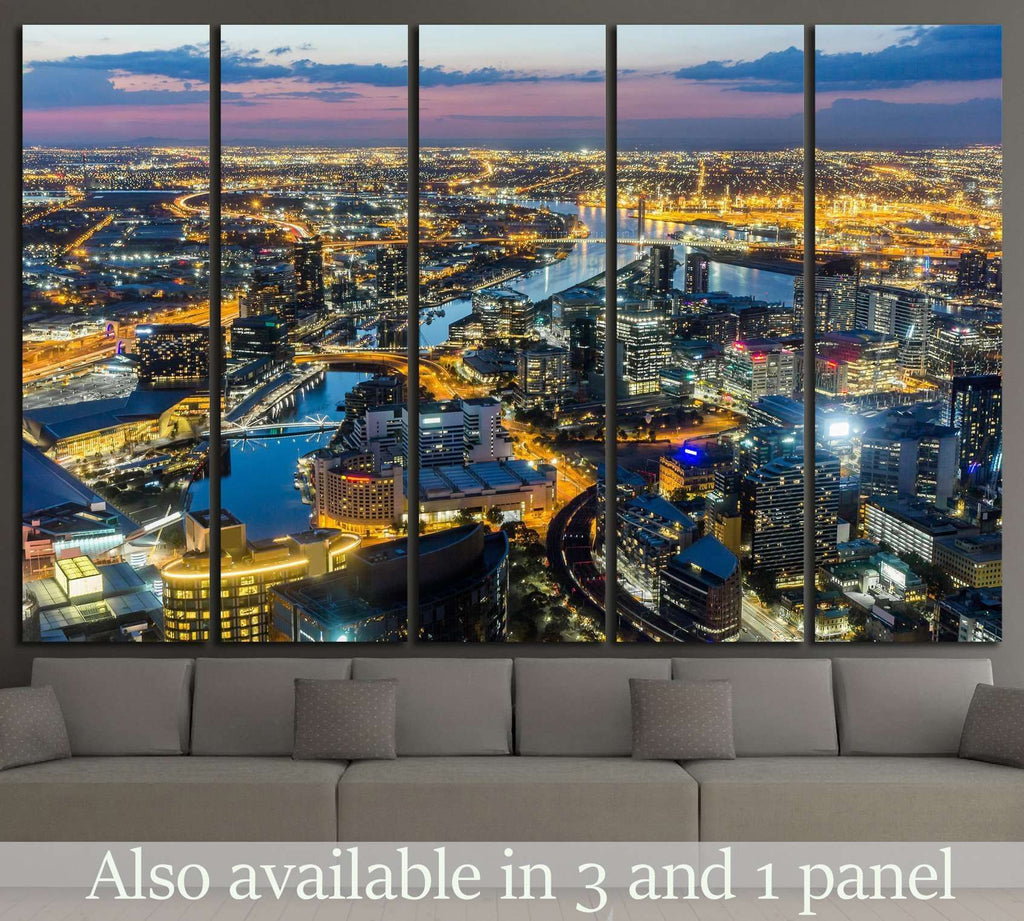 Melbourne City №801 Ready to Hang Canvas Print