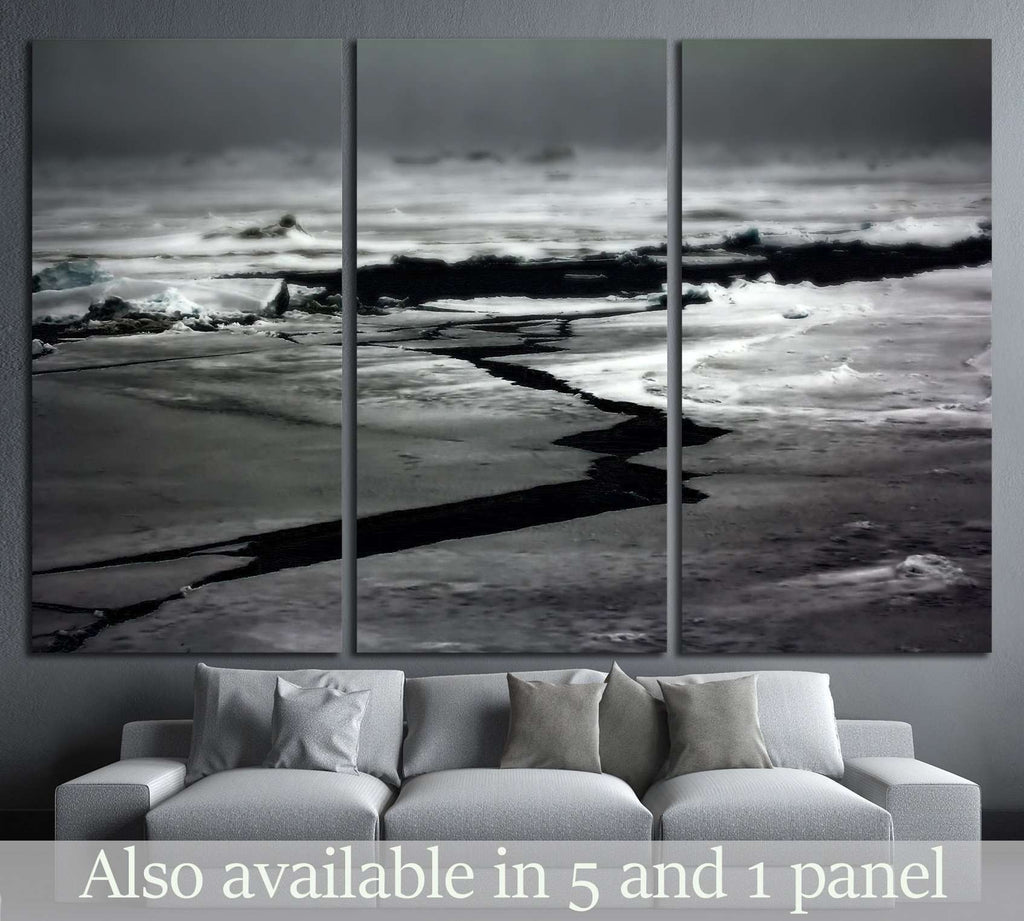 melting of the ice at the North pole №1405 Ready to Hang Canvas Print