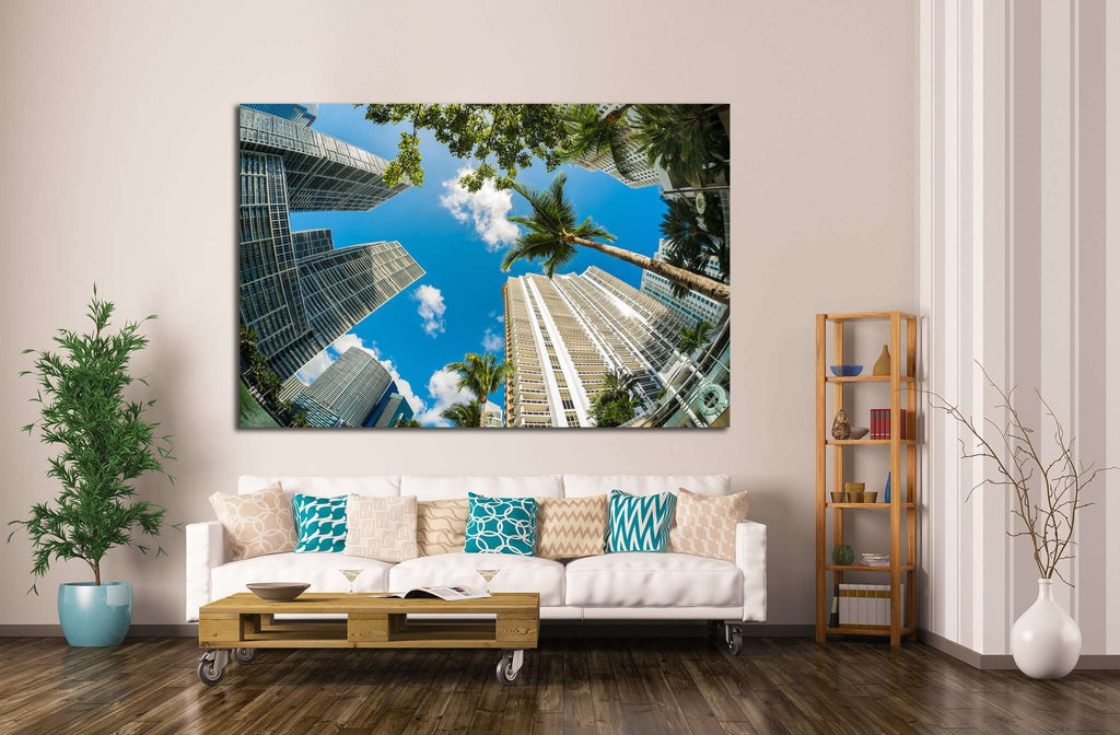Miami along Biscayne Bay №1089 Ready to Hang Canvas Print