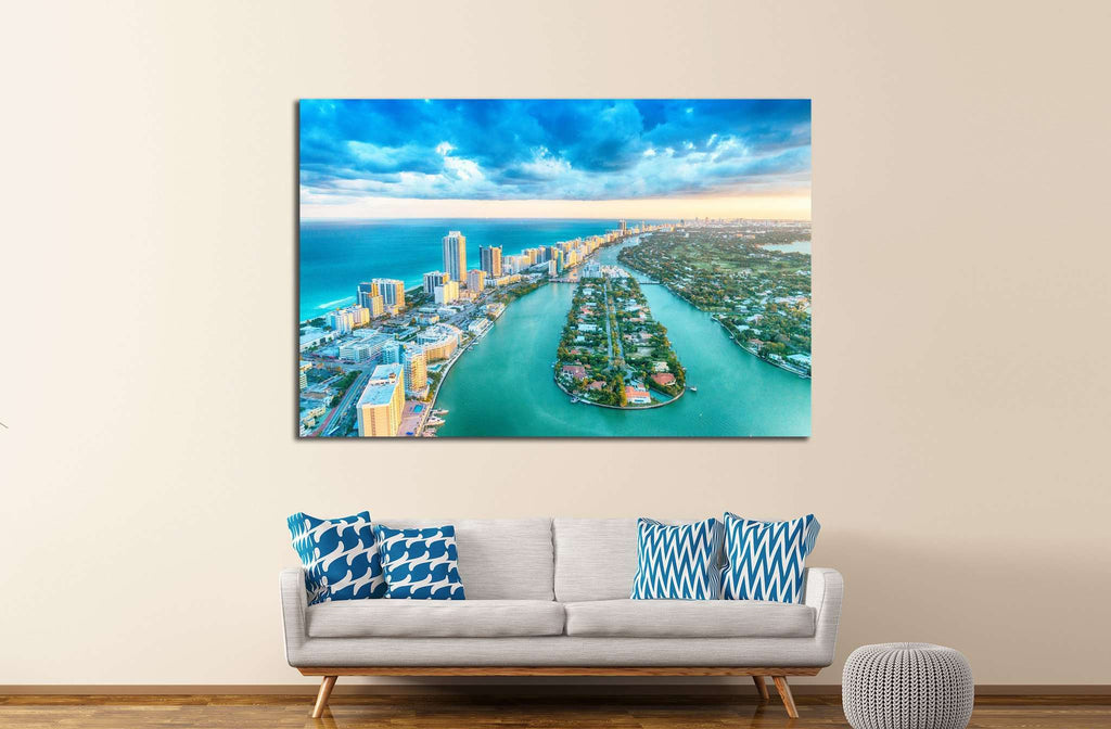 Miami Beach №1030 Ready to Hang Canvas Print