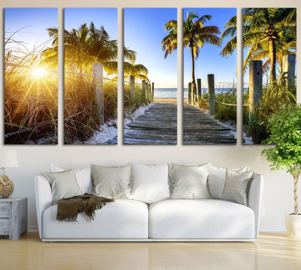 Miami Beach №626 Ready to Hang Canvas Print