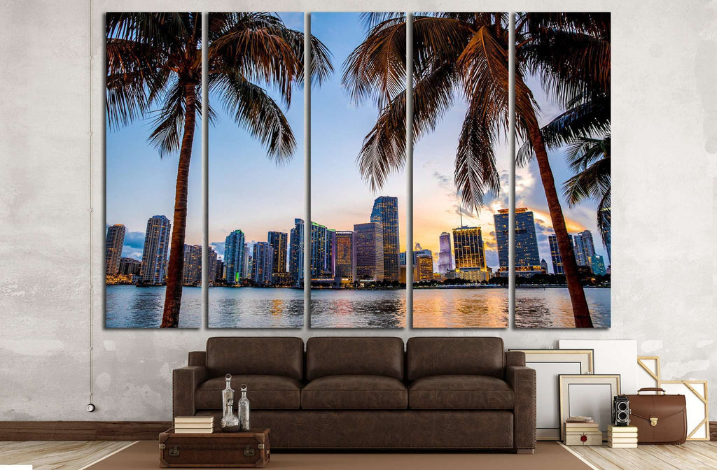 Miami, Florida skyline №1228 Ready to Hang Canvas Print