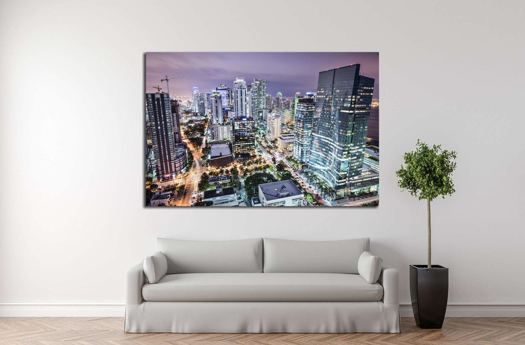 Miami, Florida, USA №1091 Ready to Hang Canvas Print