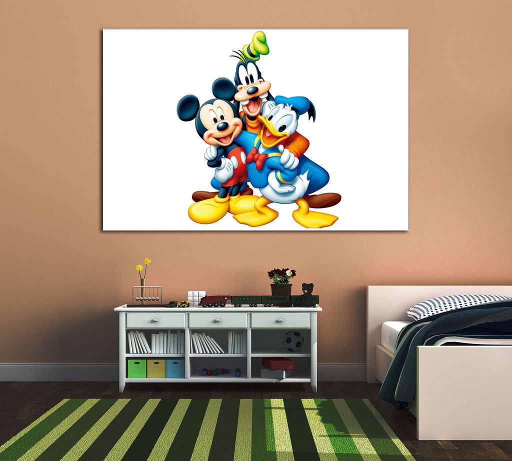 Mickey Mouse and his friends №2019 Ready to Hang Canvas Print