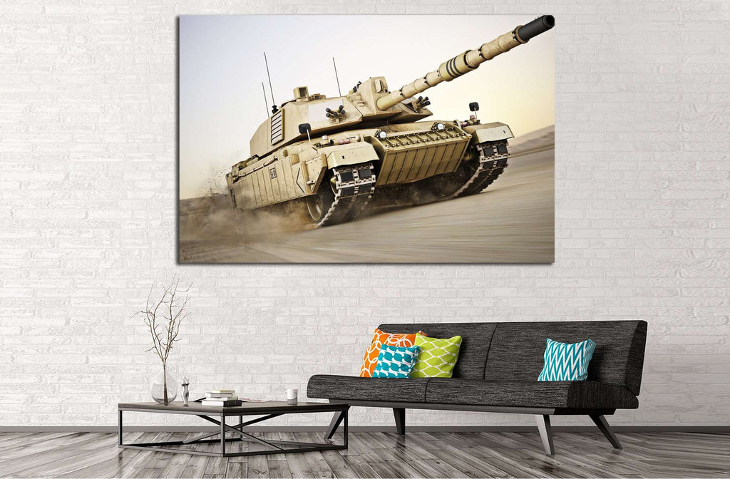 Military Tank №223 Ready to Hang Canvas Print