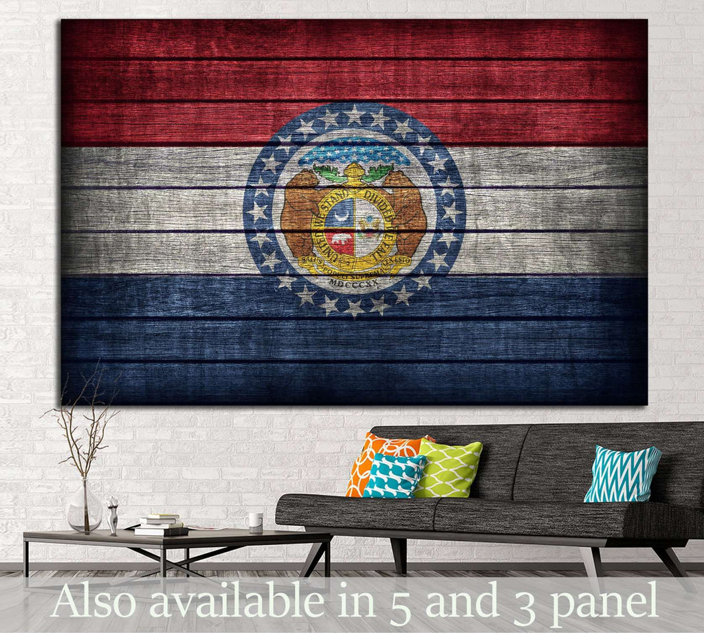Missouri flag №678 Ready to Hang Canvas Print