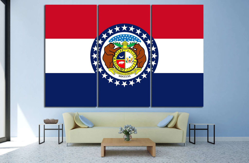 Missouri Flag №689 Ready to Hang Canvas Print