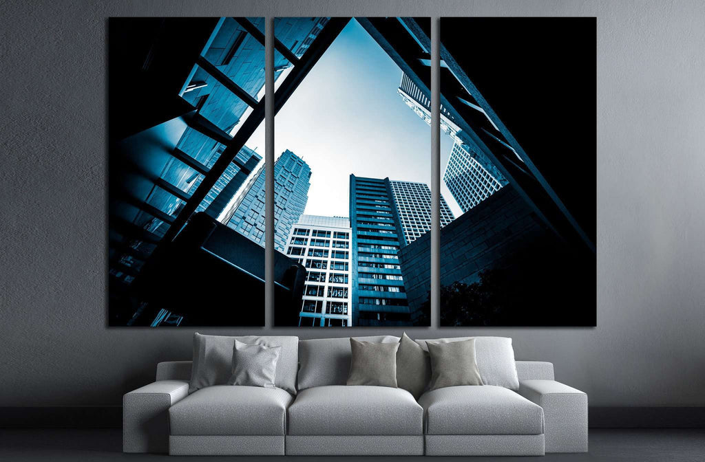 Modern Architecture monochrome tone №1577 Ready to Hang Canvas Print