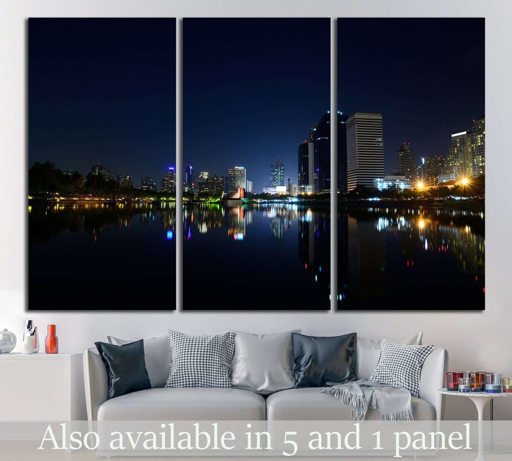 Modern city view of Bangkok №827 Ready to Hang Canvas Print