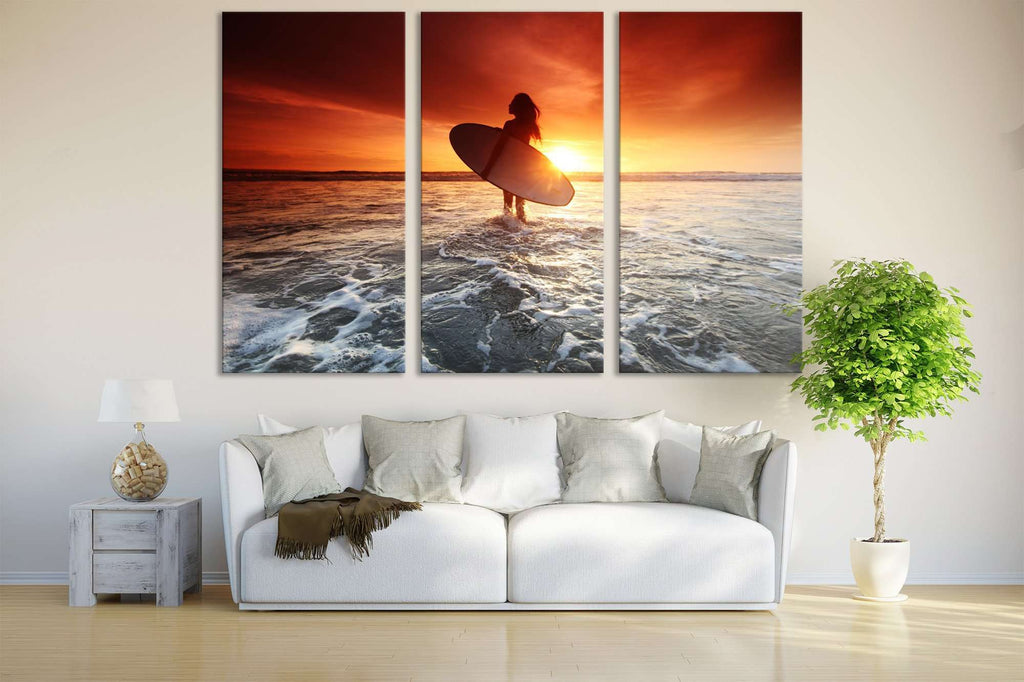 Modern Sunset №654 Ready to Hang Canvas Print