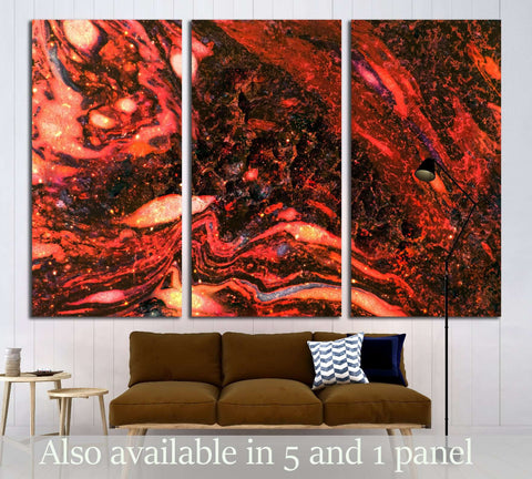 Molten magma hot lava texture №3023 Ready to Hang Canvas Print