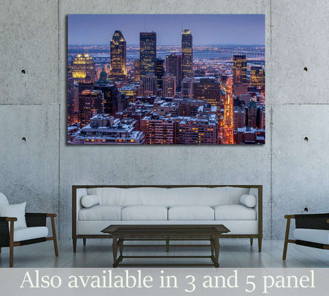 Montreal City №2039 Ready to Hang Canvas Print