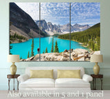 Moraine lake, Canada №594 Ready to Hang Canvas Print