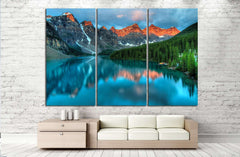 Moraine lake in Banff National park №749 Ready to Hang Canvas Print