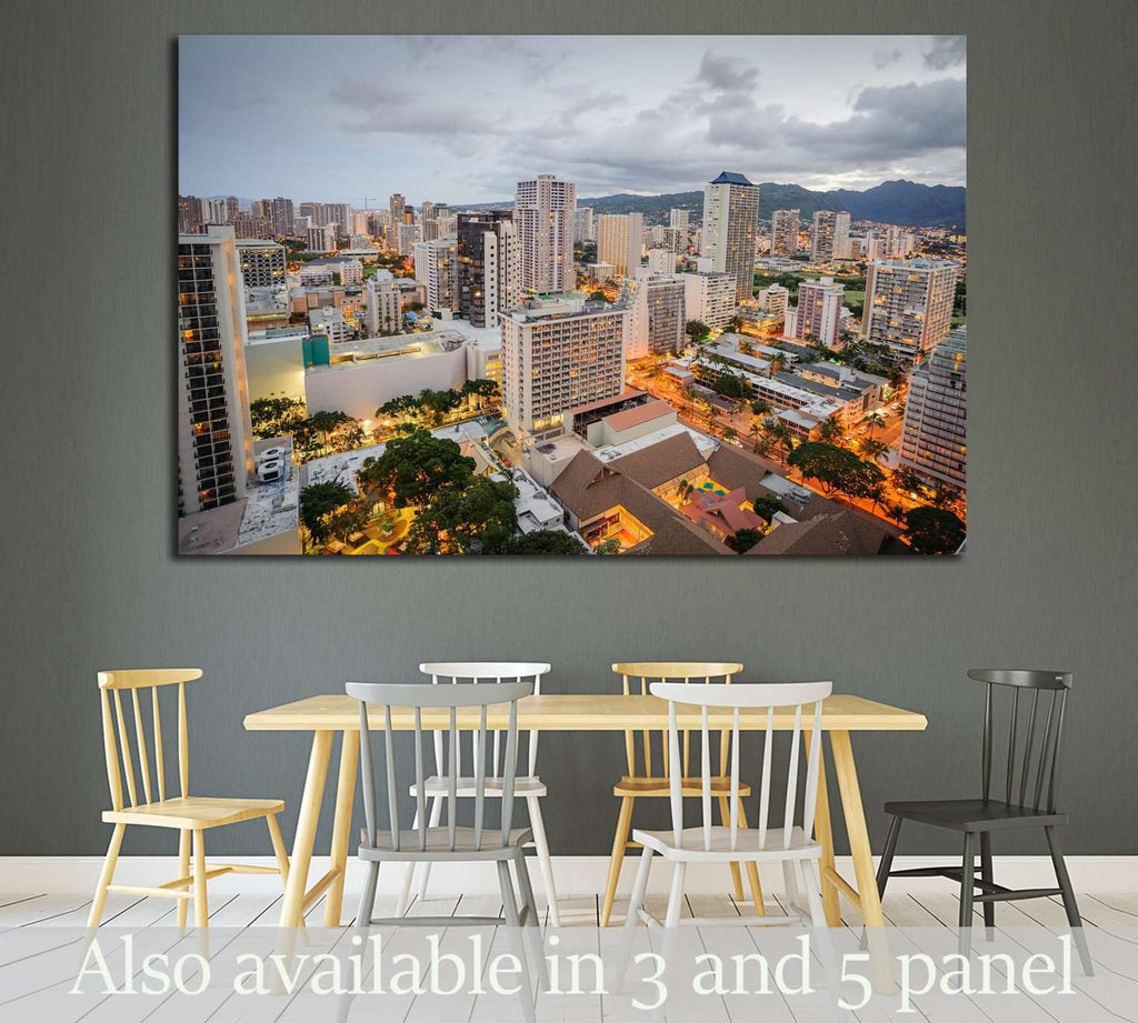 Morning in Honolulu Hawaii №1688 Ready to Hang Canvas Print