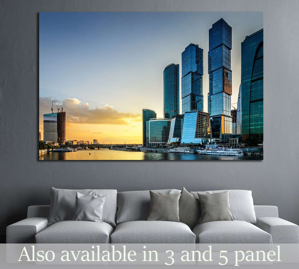 Moscow City. Russia №1533 Ready to Hang Canvas Print