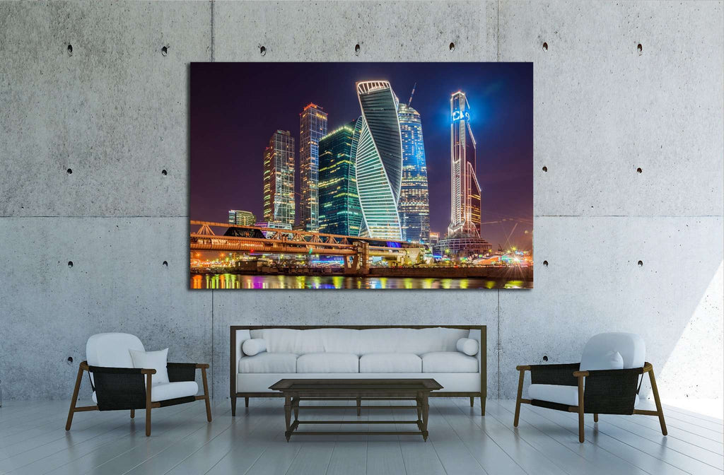 Moscow, Russia №1551 Ready to Hang Canvas Print
