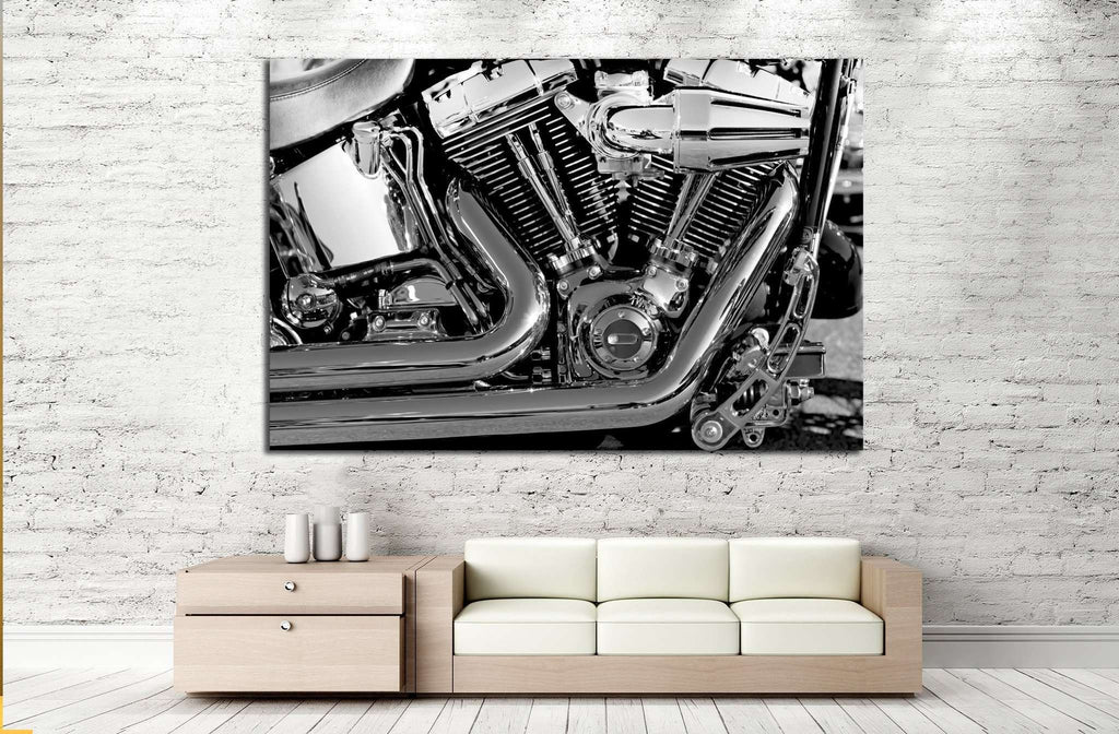 Motorbike Engine №520 Ready to Hang Canvas Print