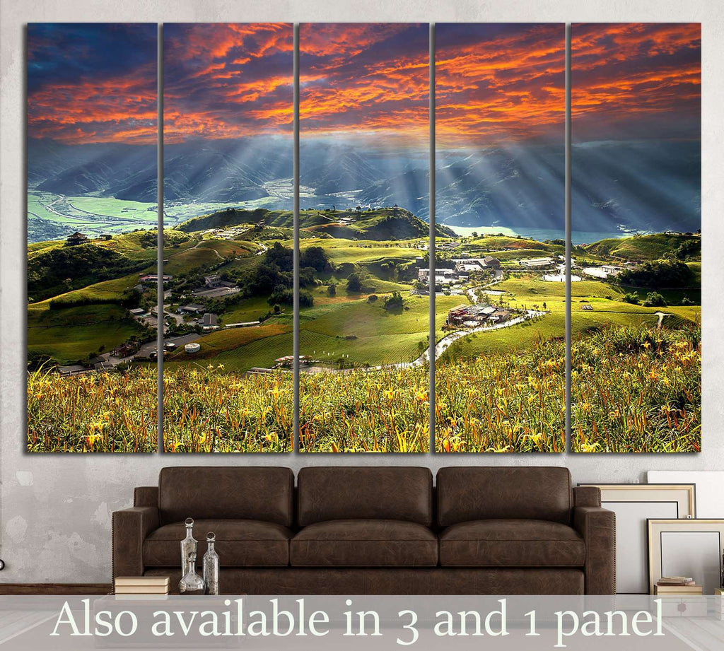 Mountain in Taiwan №606 Ready to Hang Canvas Print